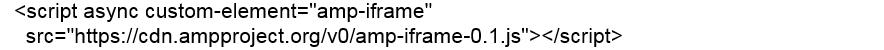 Khai báo thư viện JS trong AMP dùng để sử dụng frame